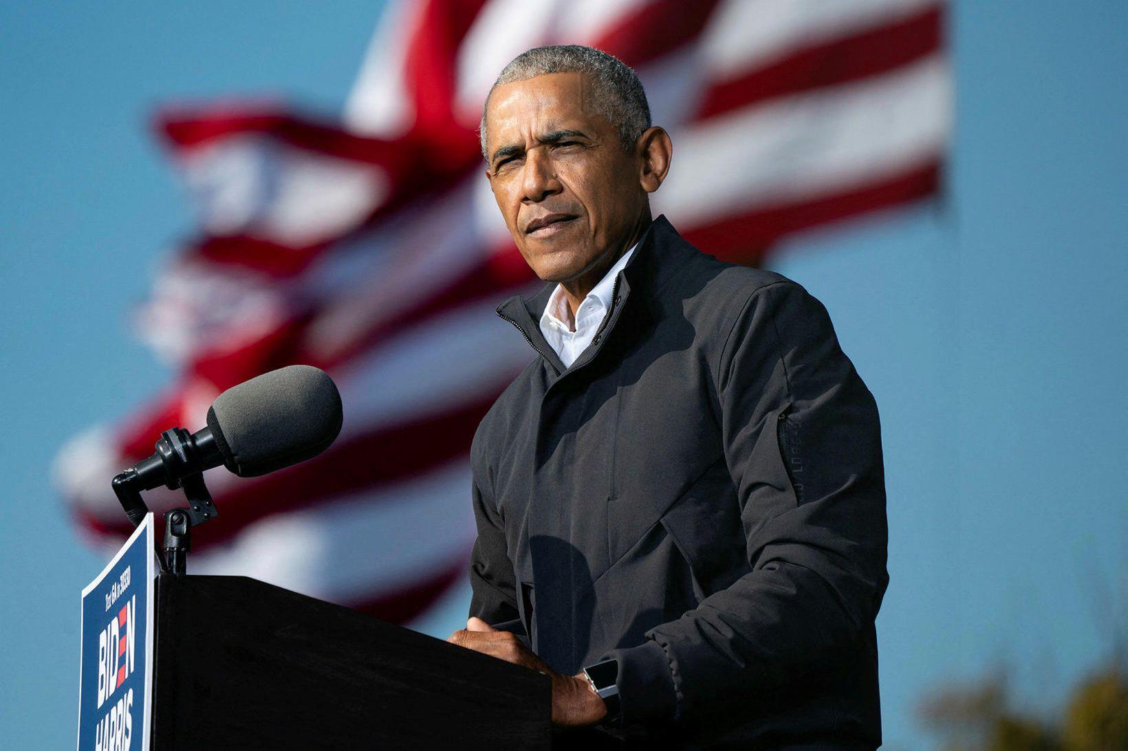 Barack Obama fyrrverandi Bandaríkjaforseti.