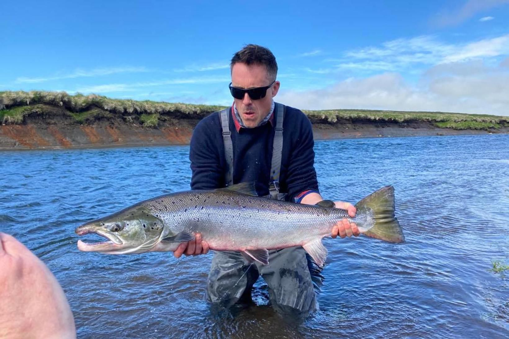 James Murray með fyrsta fiskinn yfir hundrað sentímetra sumarið 2020 …
