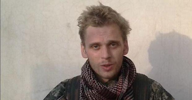 Haukur Hilmarsson. Myndin er tekin úr myndskeiði sem útlendingahersveitin International Freedom Battalion birti árið 2018.