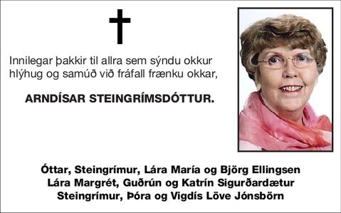 Arndísar Steingrímsdóttur.