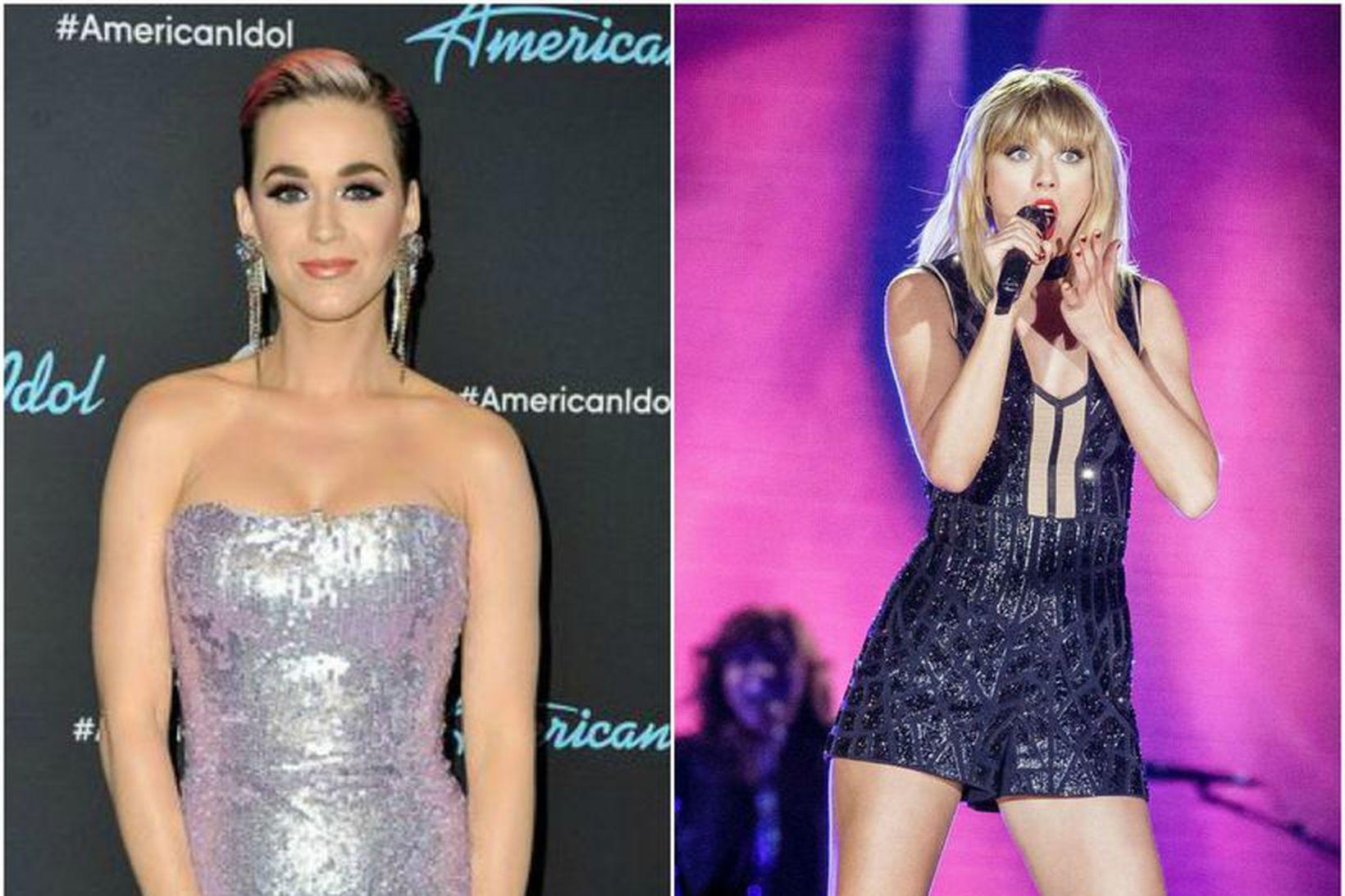 Katy Perry og Taylor Swift voru miklar óvinkonur um skeið.