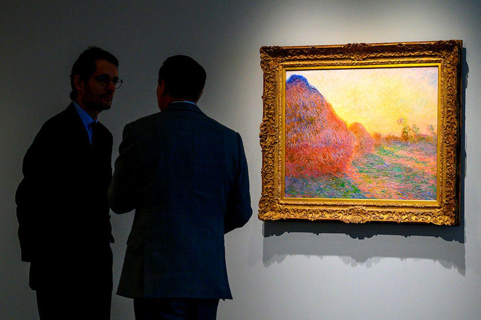 Ein af heysátum Claude Monet var seld á uppboði í …