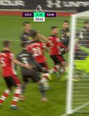 Southampton vann sex stiga botnslag (myndskeið)
