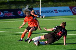 Marija Radojicic var á skotskónum hjá Fylki gegn Víkingi.