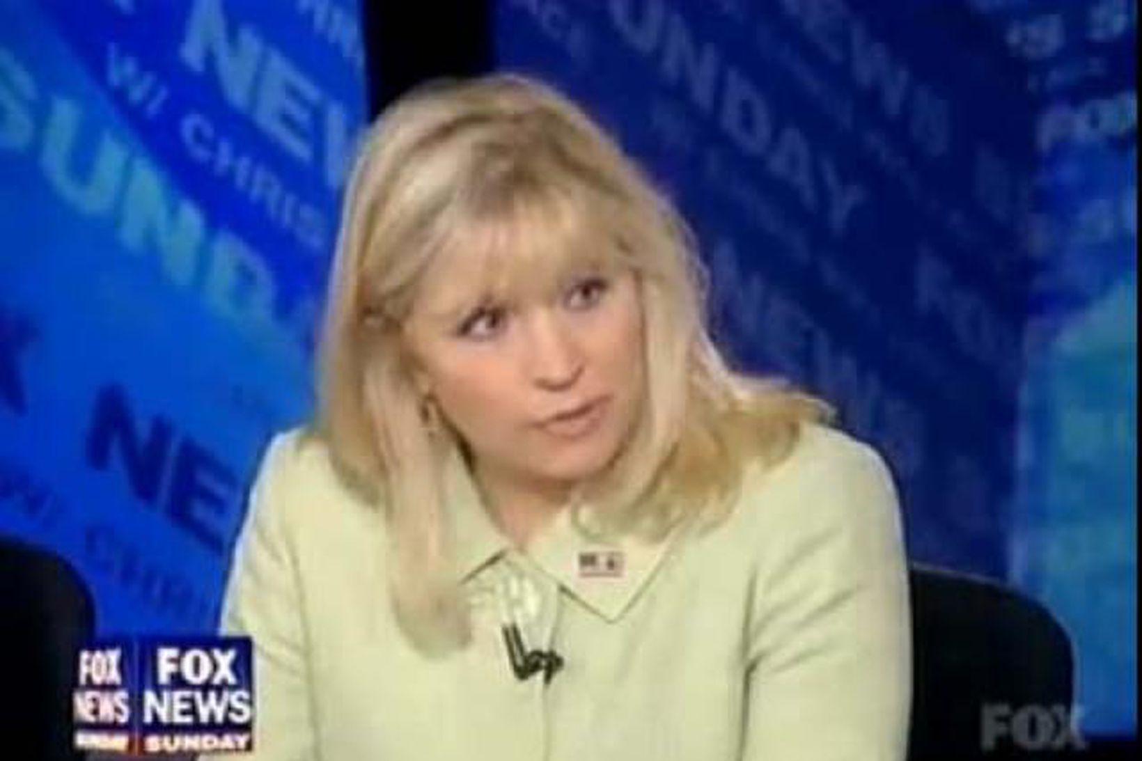 Liz Cheney í viðræðuþætti á Fox.