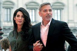 Amal og George Clooney.