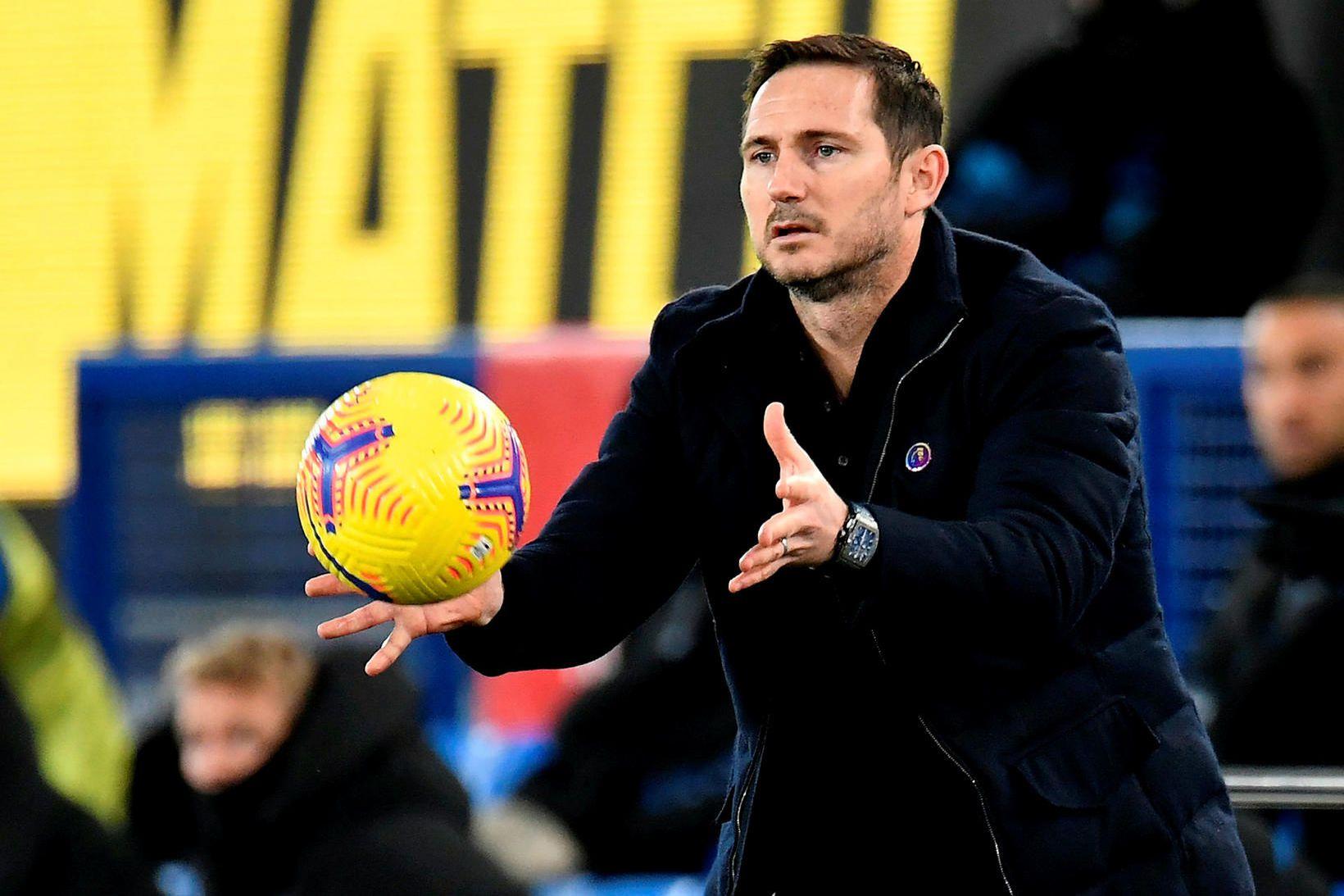 Frank Lampard var rekinn í morgun.