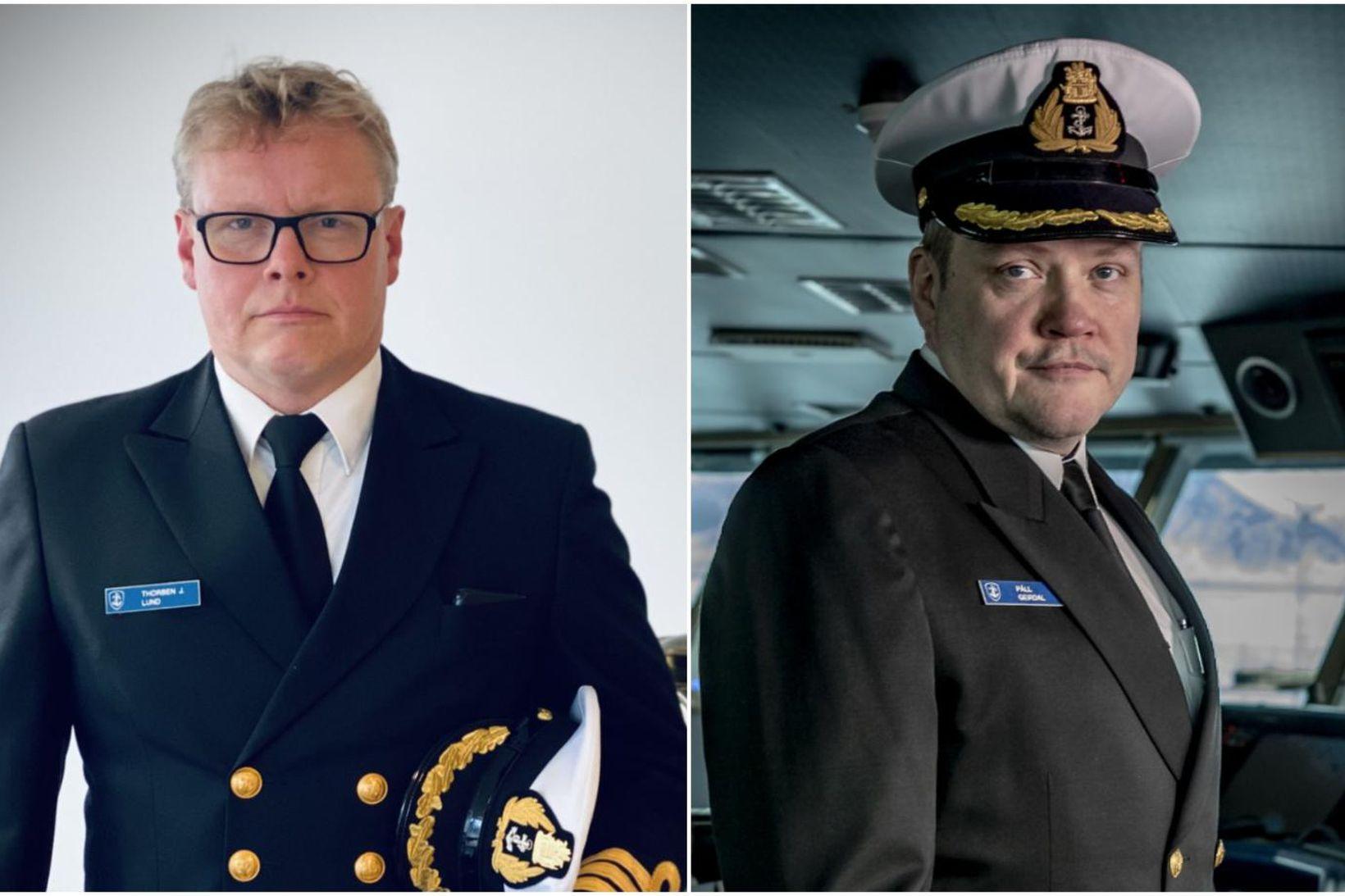 Thorben Jósef Lund t.v. og Páll Geirdal t.h. taka við …