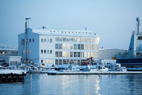 The renovated Marshall building seen from the harbour. Artist Ólafur Elíasson will have an exhibition space in the southern part of the building as well as gallery i8. The Living Arts Museum is on the second floor and Kling and Bang on the third. Eliasson's studio is on the top floor. The ground floor features a new restaurant and bar.  .
