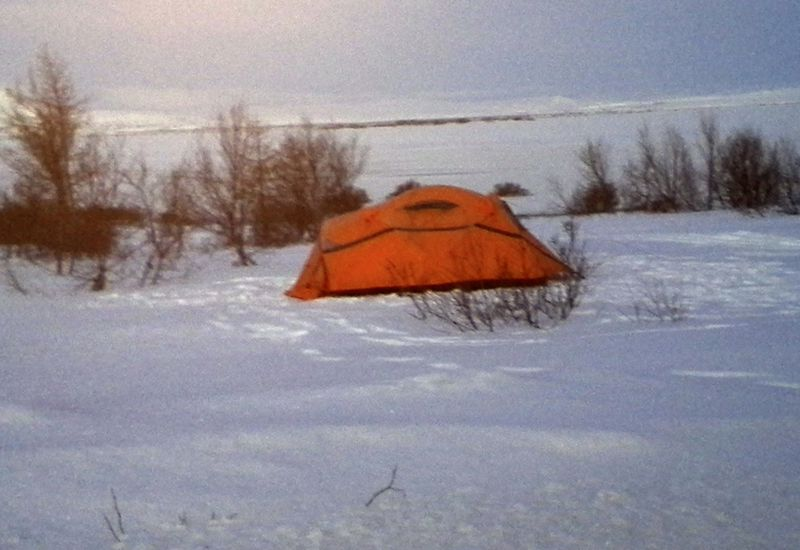 An archive photo. Not the best weather for camping in the mountains today.
