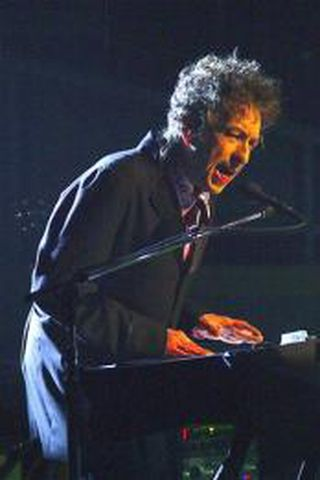 Bob Dylan á tónleikum.