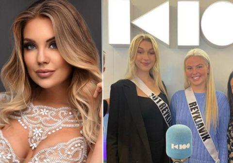 Isis Helga Pollock og Kara Sól Einarsdóttir, keppendur í Miss Universe Iceland mættu ásamt Manúelu Ósk, sem heldur utan um keppnina í Helgarútgáfuna og ræddu um keppnina.