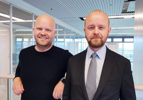 Bræðurnir Konráð og Gunnlaugur Jónssynir.