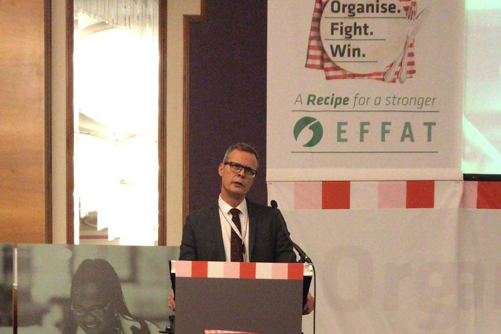Kristján Bragason var kosinn framkvæmdastjóri EFFAT.
