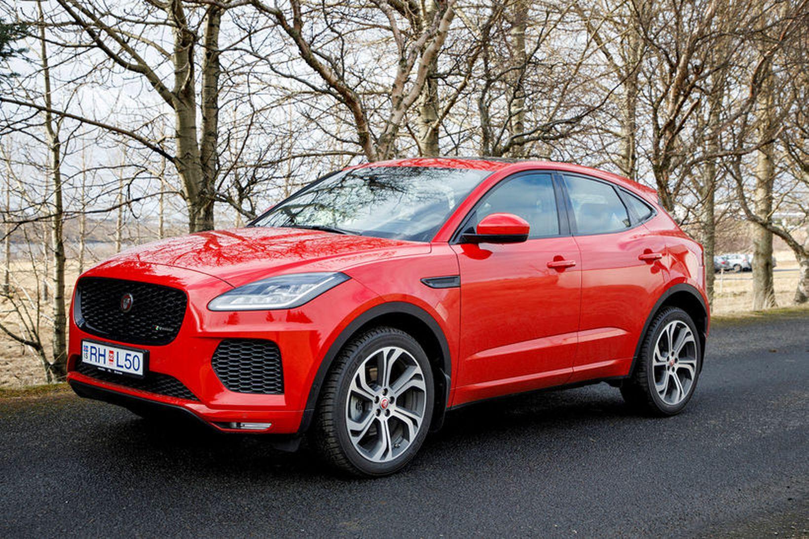 Jaguar E-pace verður ekki á bílasýningunni í Genf í byrjun …