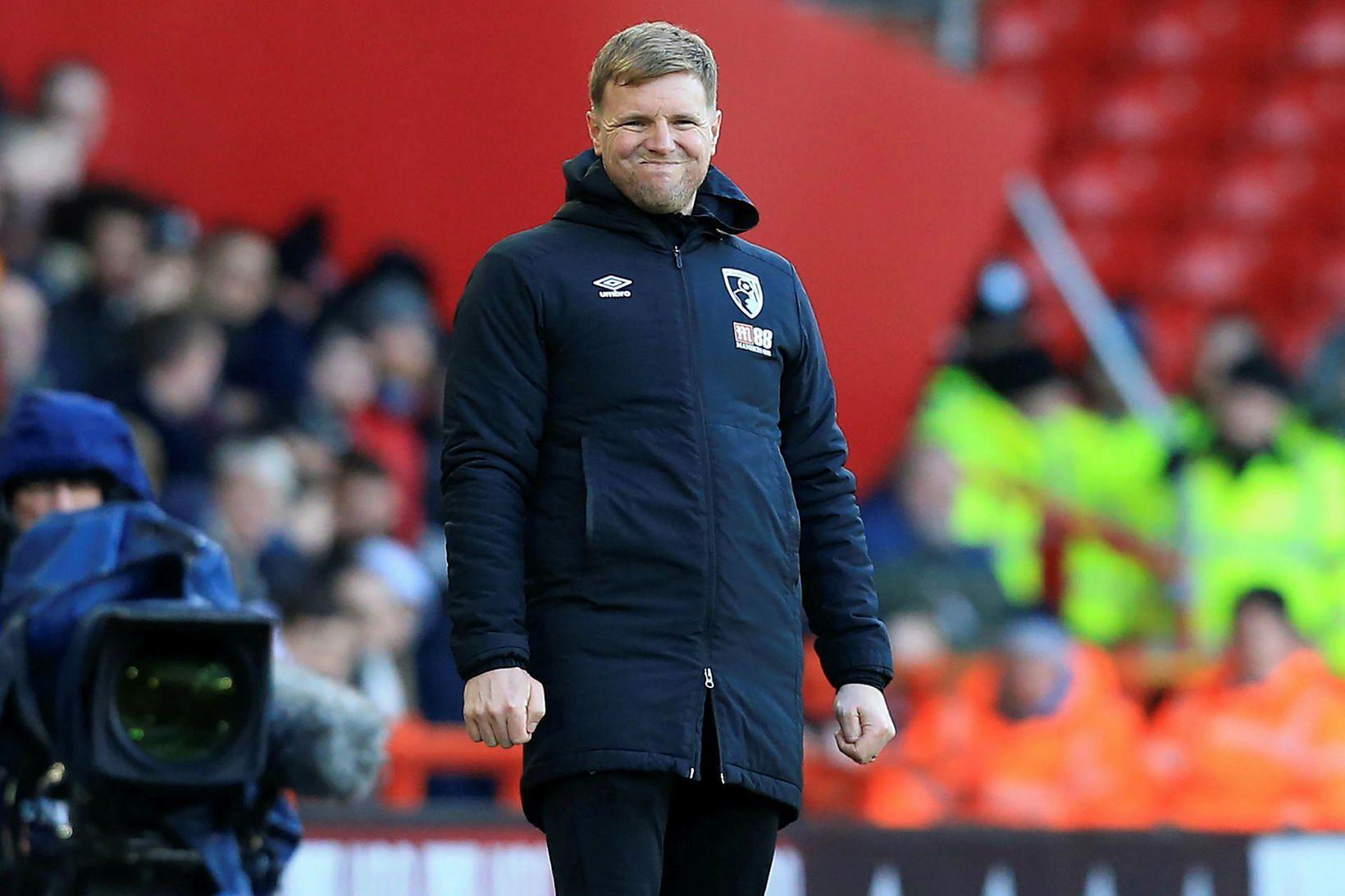 Eddie Howe er knattspyrnustjóri Bournemouth.