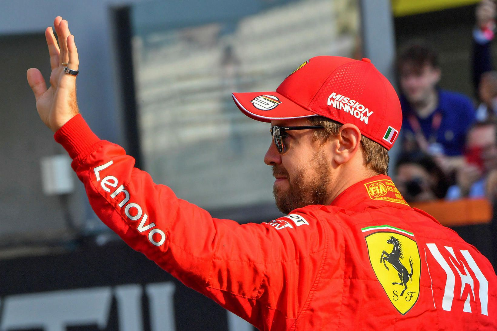 Sebastian Vettel kveður Ferrari við vertíðarlok 2020.