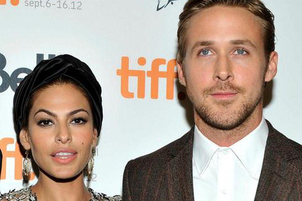 Eva Mendes og Ryan Gosling eiga tvær dætur.
