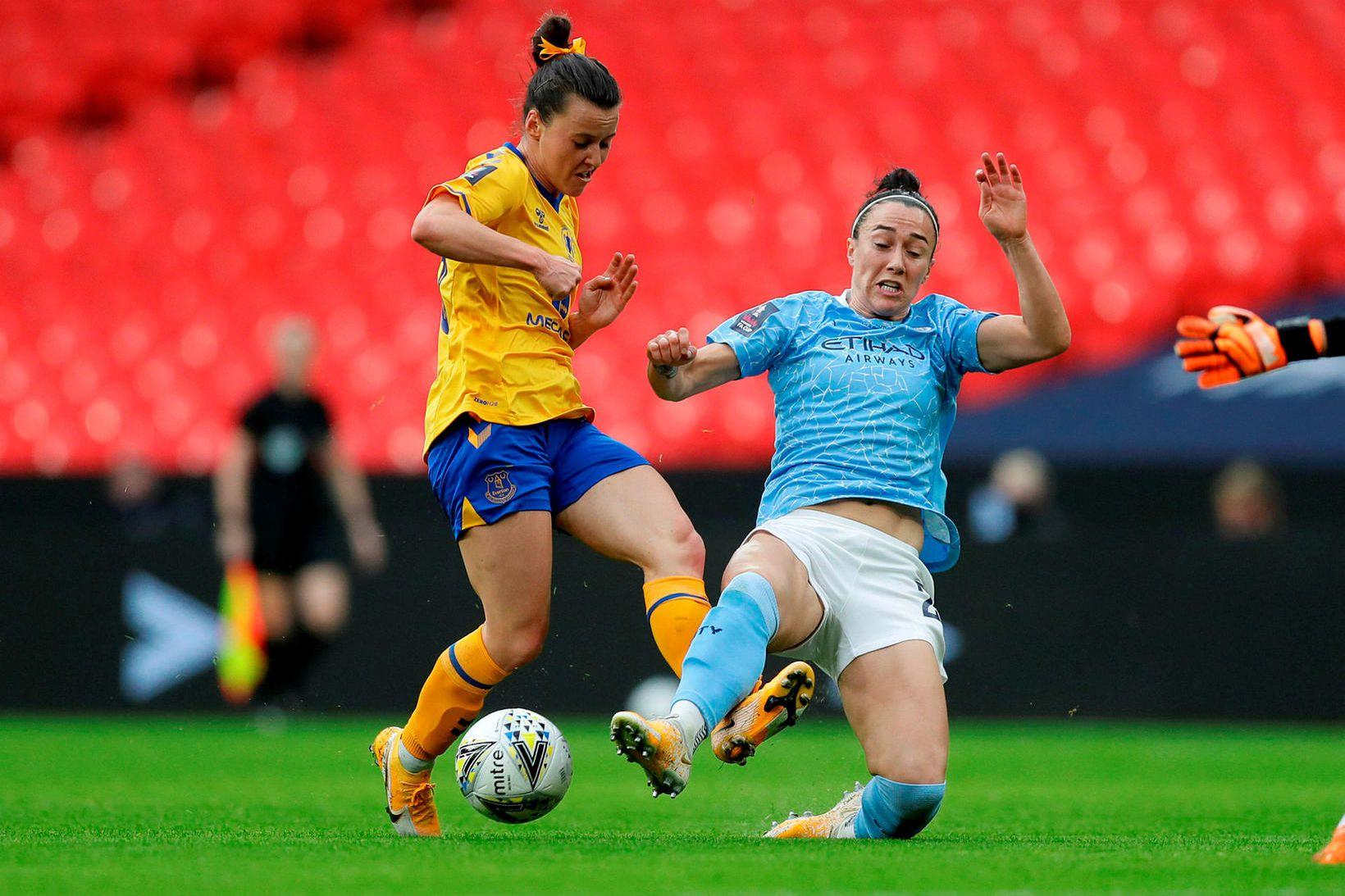 Lucy Bronze í leik með Manchester City.