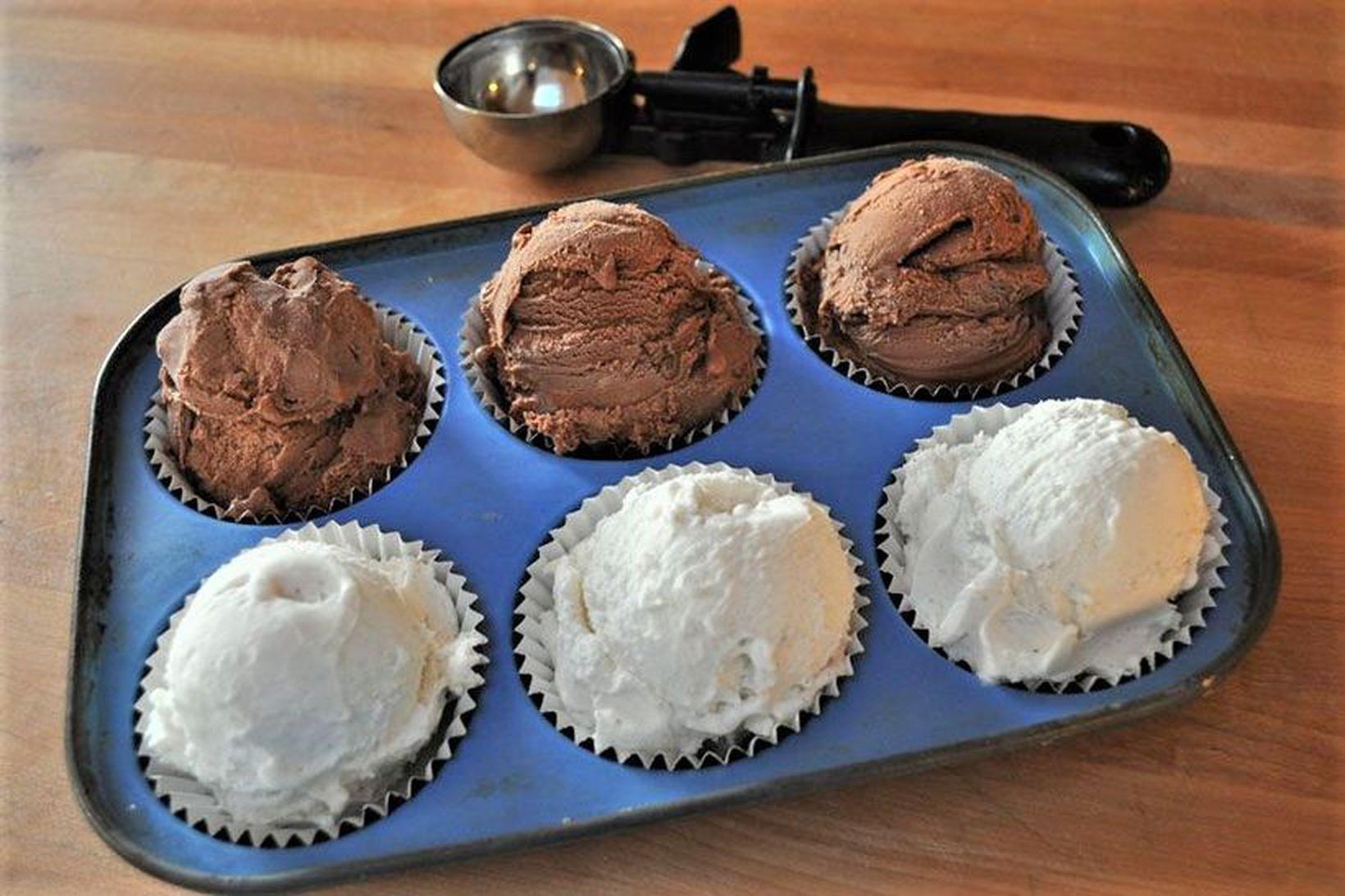 Skammtið ís í muffinsform og sleppið við óþarfa uppvask.