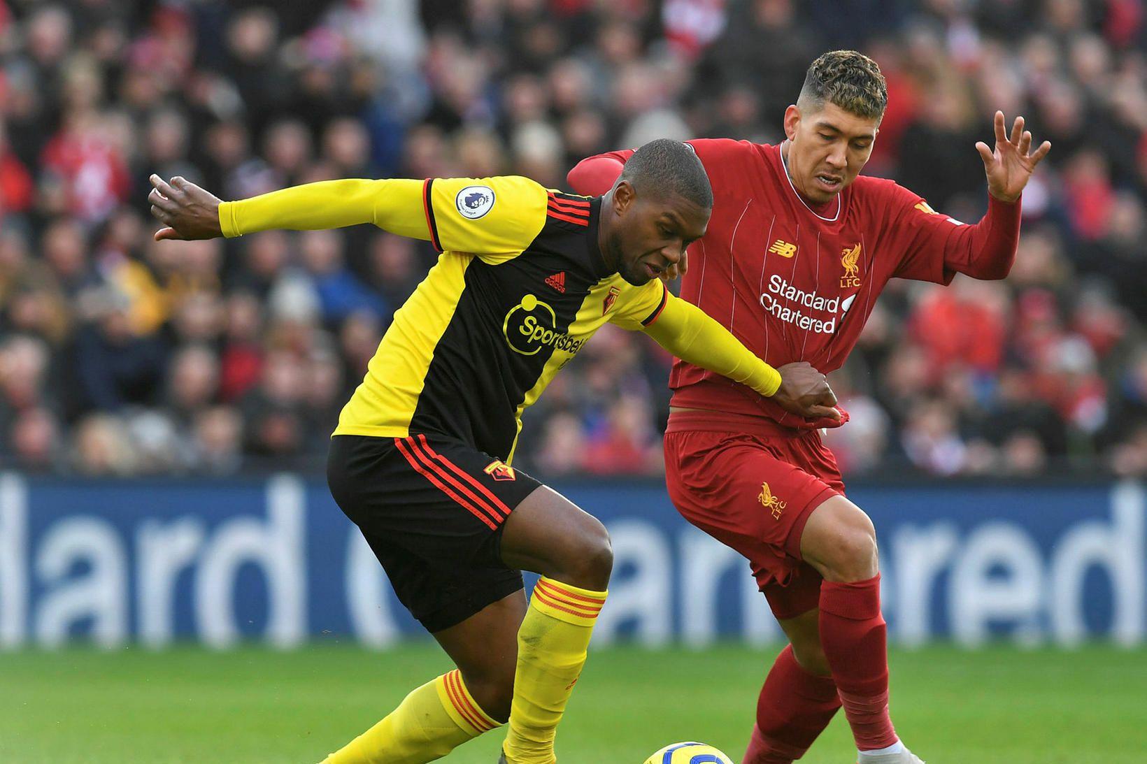 Christian Kabasele í leik með Watford gegn Liverpool.