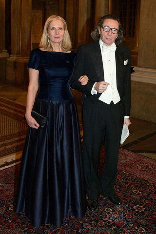 Hjónin Katarina Frostenson og Jean-Claude Arnault þegar þau mættu til ...