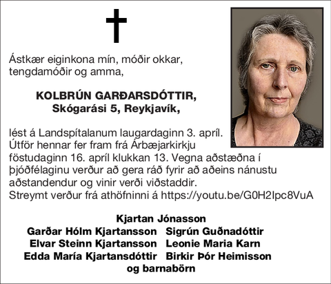 Kolbrún Garðarsdóttir,