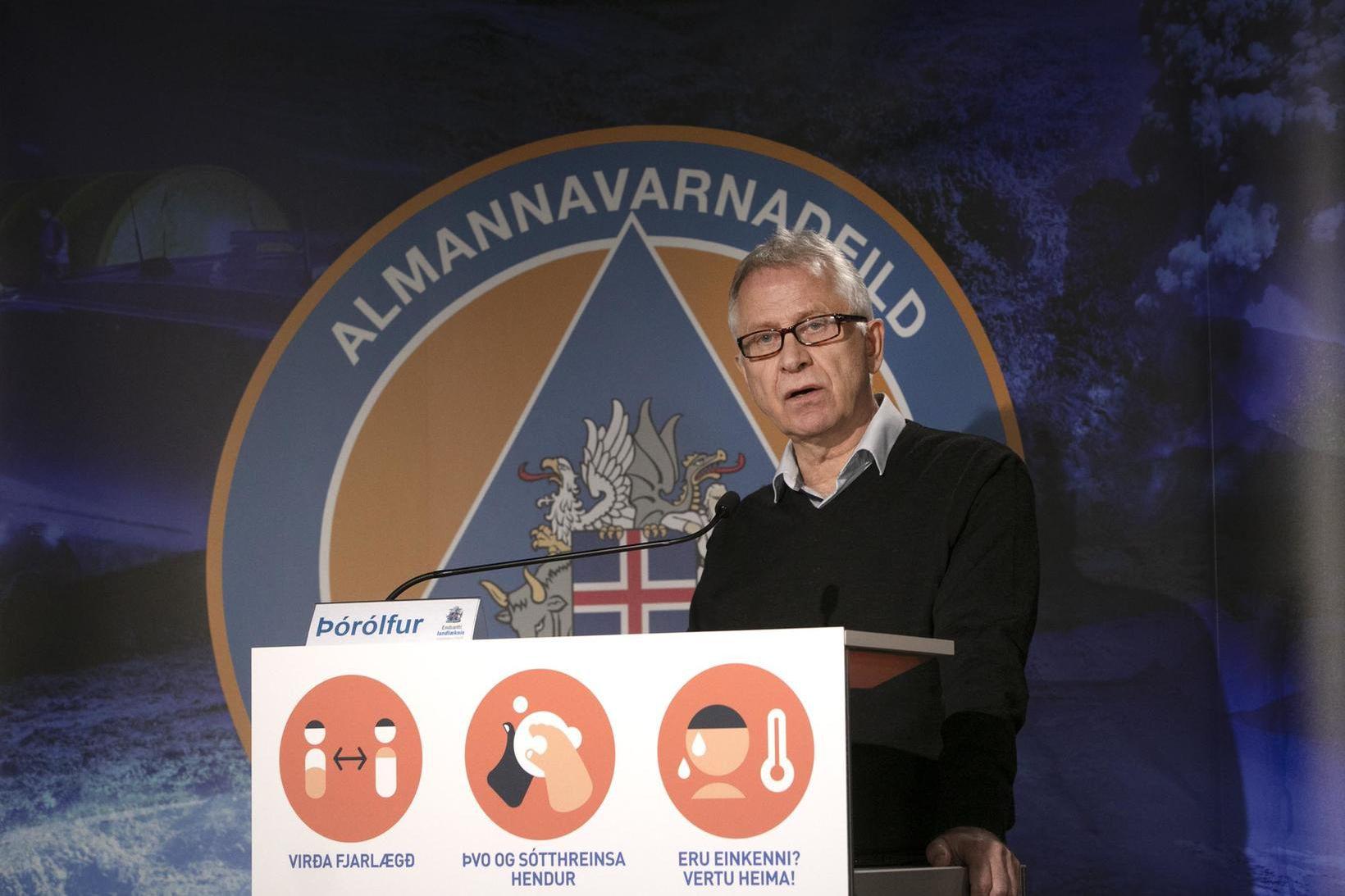 Þórólfur Guðnason sóttvarnalæknir er á sínum stað.