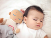 The Lulla Doll is gives off the sound of a heartbeat and breathing, giving children the impression that they are not alone.