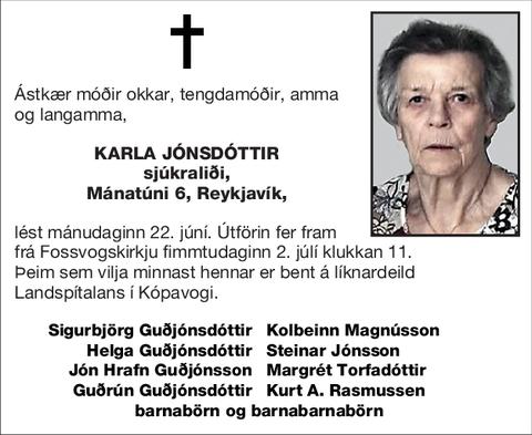 Karla Jónsdóttir