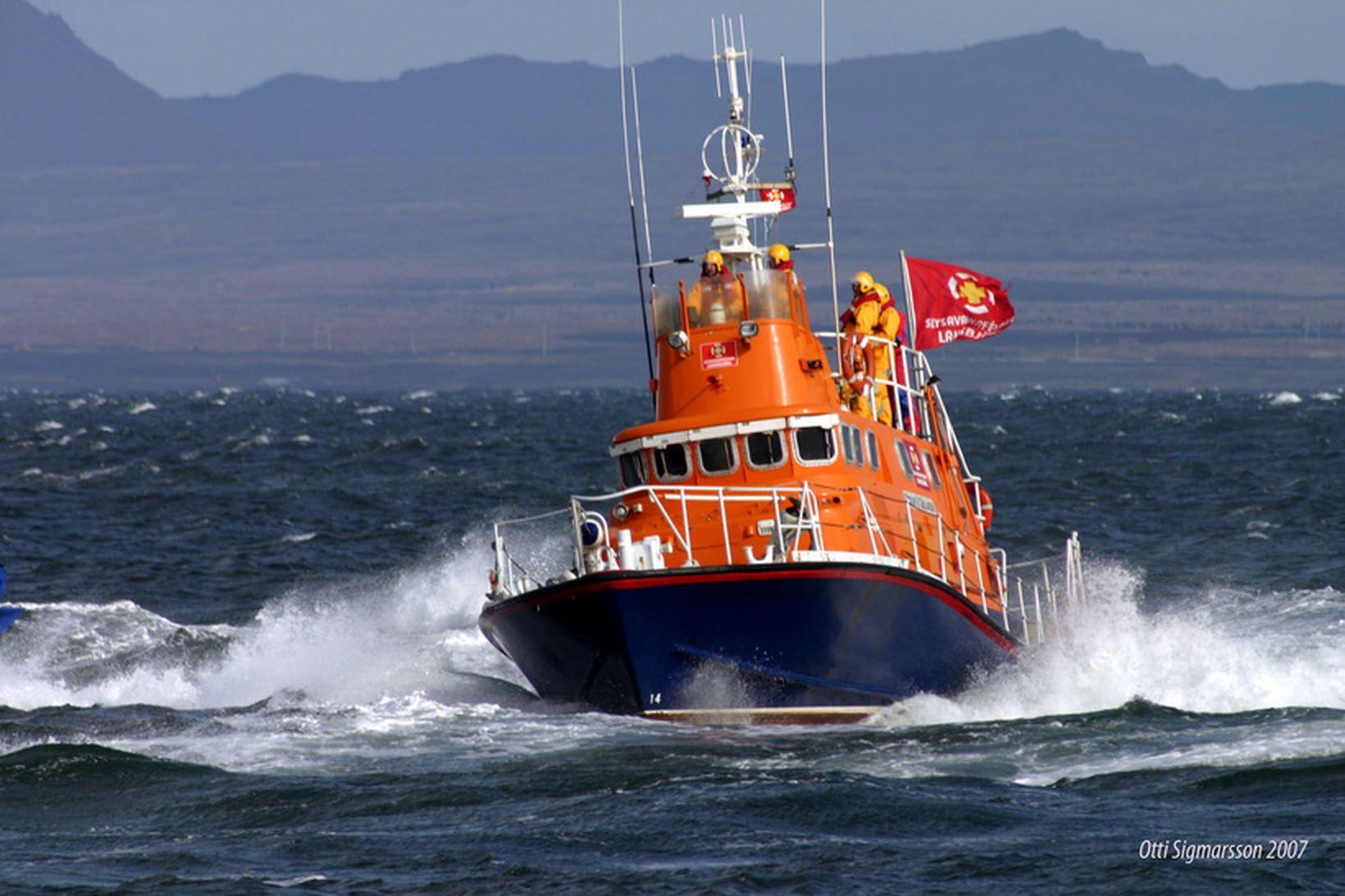 Oddur V. Gíslason, björgunarskip Slysavarnafélagsins Landsbjargar í Grindavík.