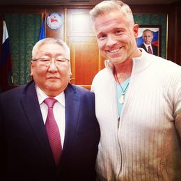 Sölvi Fannar with the Yakutian president, Egor Borisov.