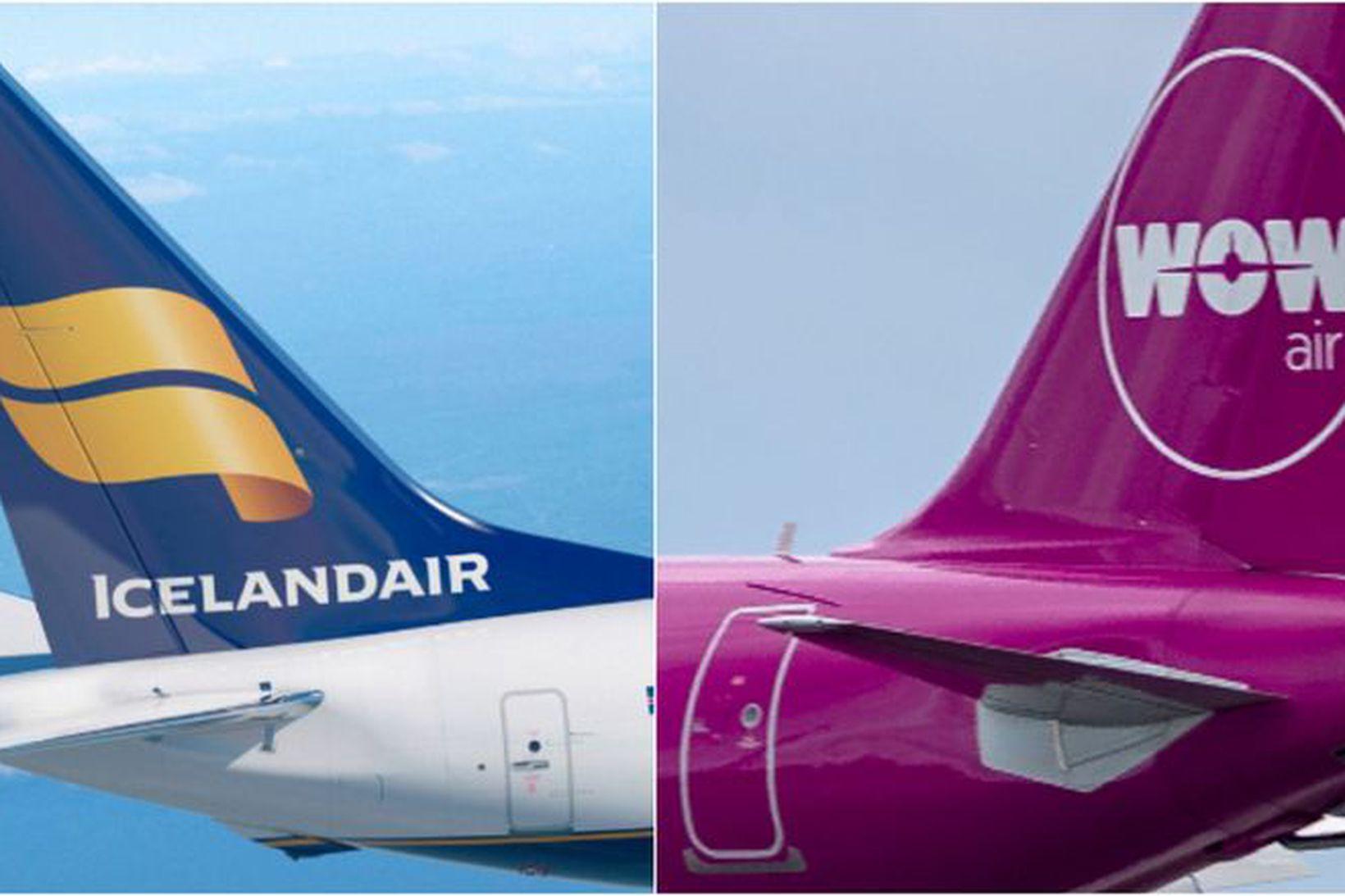 Icelandair og Wow air.
