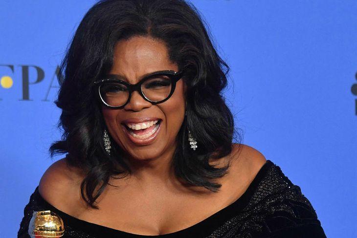 Oprah í essinu sínu á Golden Globe.