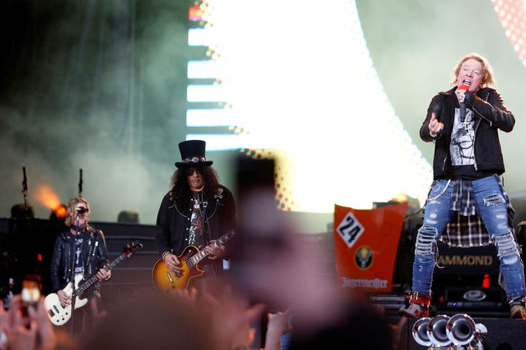 Guns N' Roses at Laugardalur Arena last night.