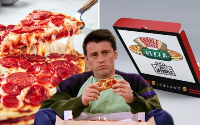 Karakterinn Joey Tribbiani úr sjónvarpsþáttunum Friends, var sólginn í pítsur. Og nú fást pítsur honum …