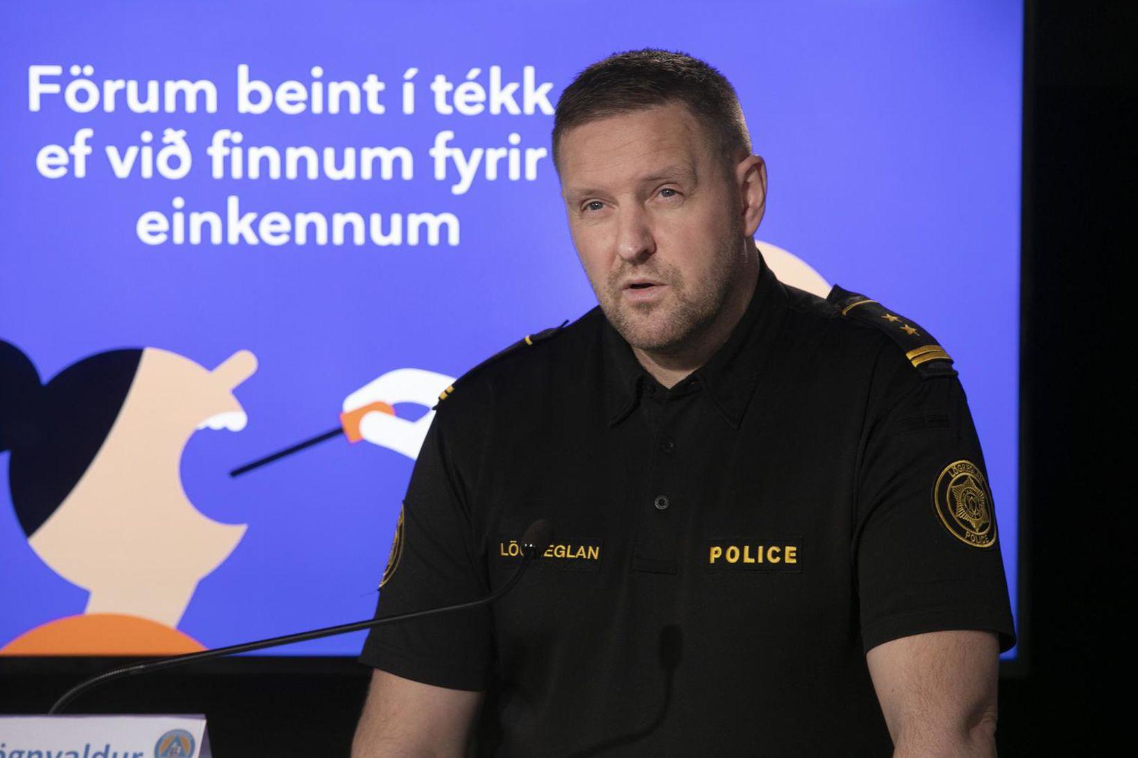 Rögnvaldur Ólafsson aðstoðaryfirlögregluþjónn.