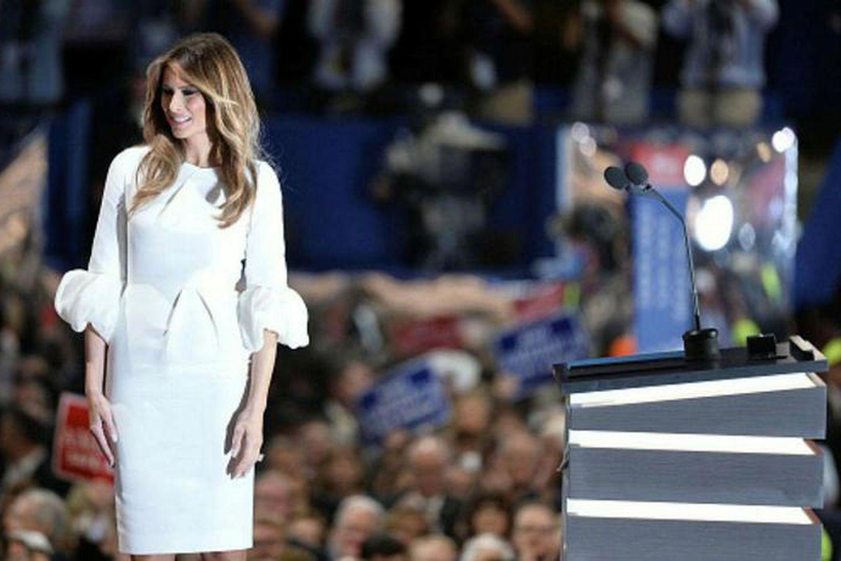 Melania Trump leggur mikla áherslu á mittislínuna.