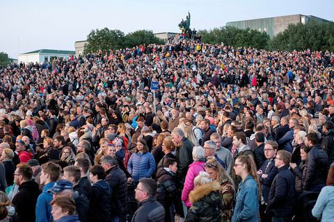 The festival traditionally draws thousands of people.