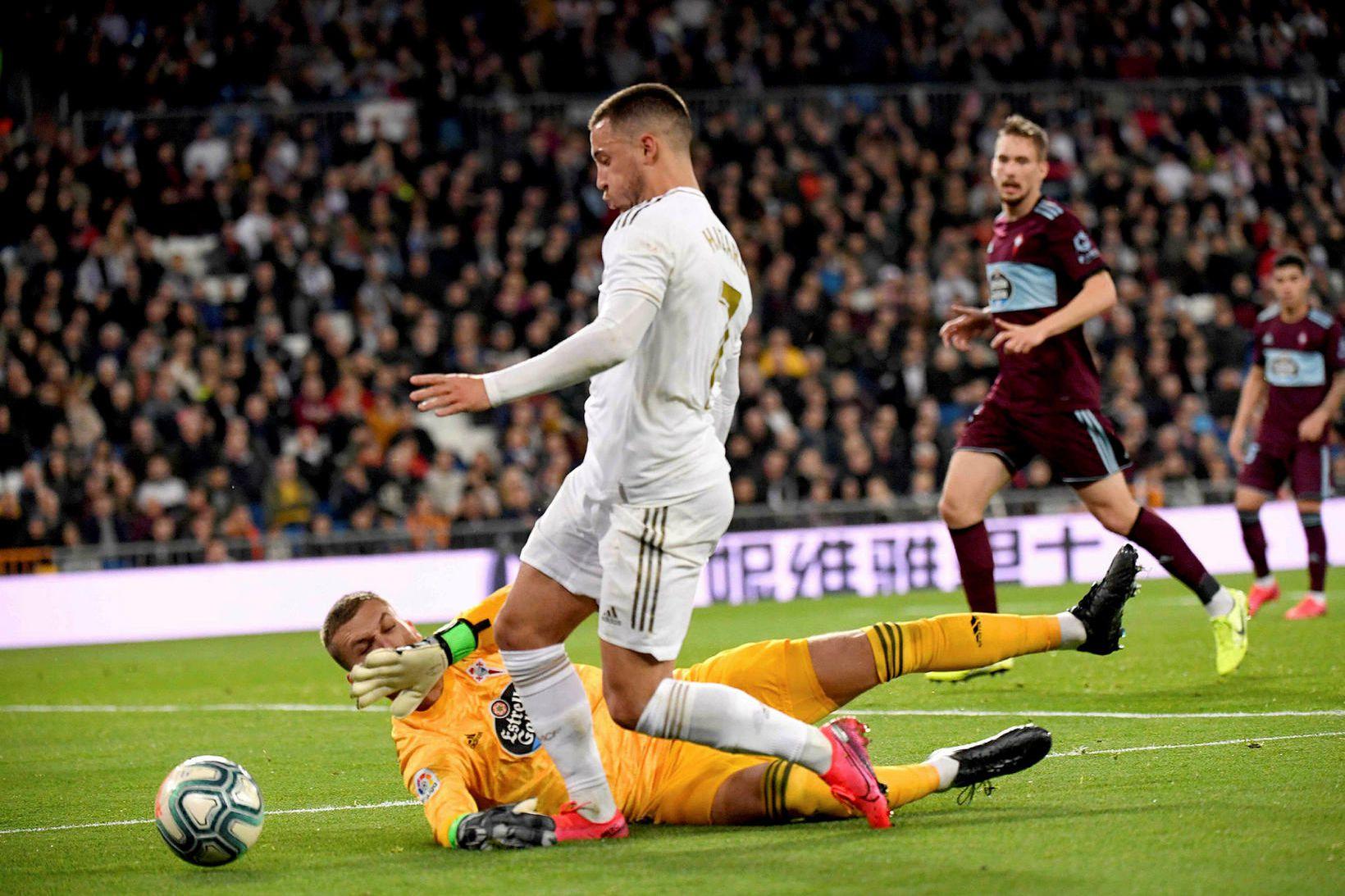 Eden Hazard í leik með Real Madrid.