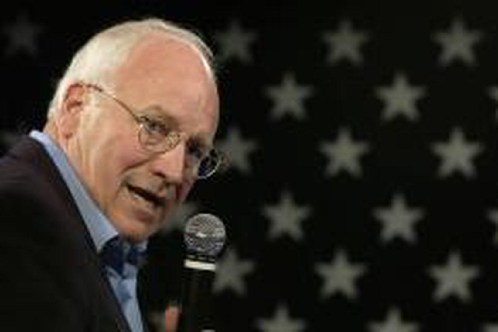 Dick Cheney á framboðsfundi í Des Moins í gær.