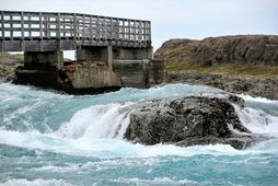 Hvalá Niðri við ós í Árneshreppi.