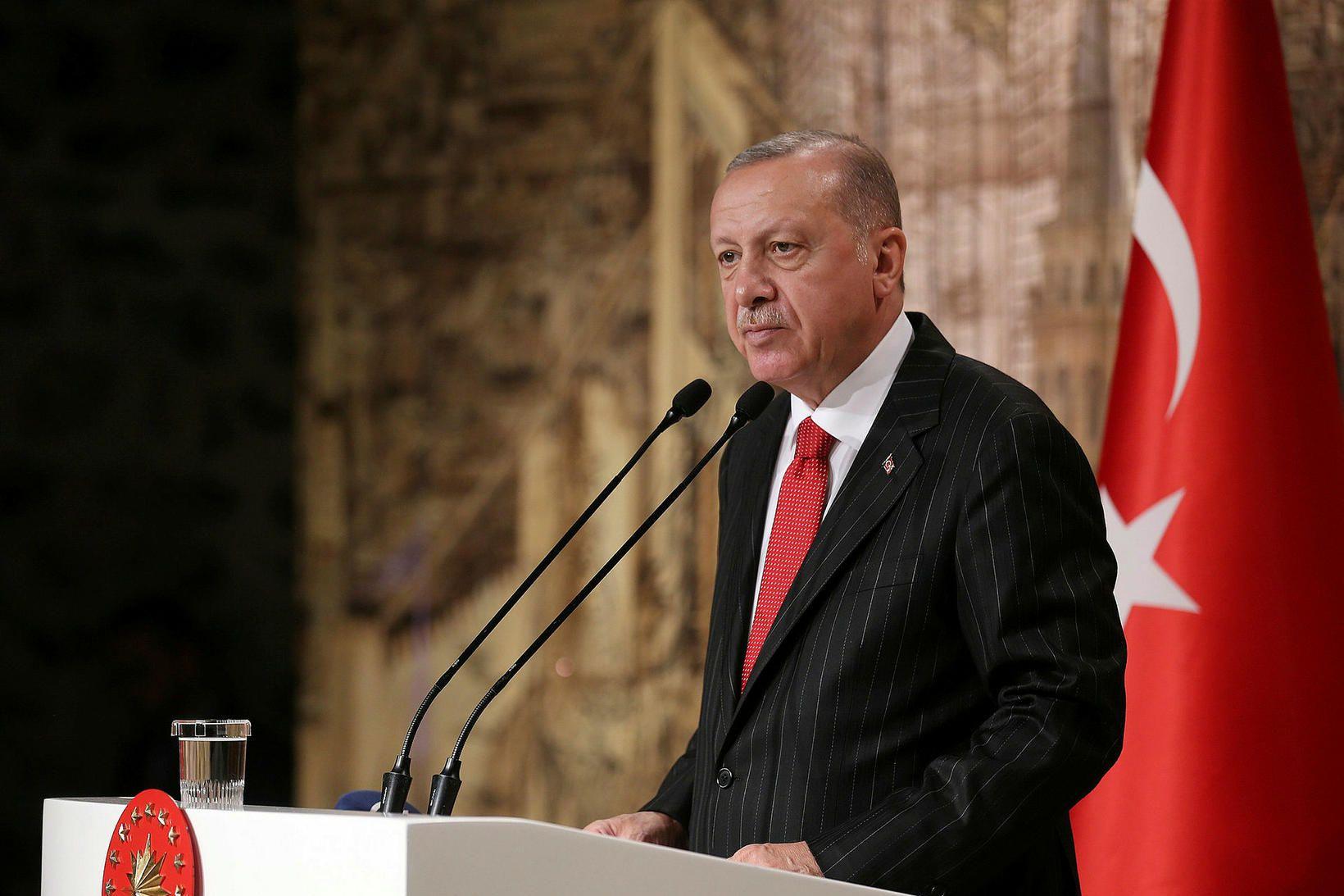 Tayyip Erdogan forseti Tyrklands.