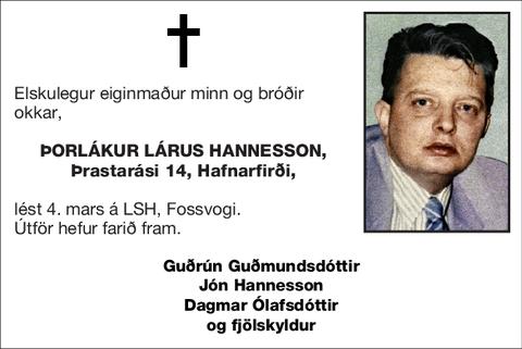 Þorlákur Lárus Hannesson,