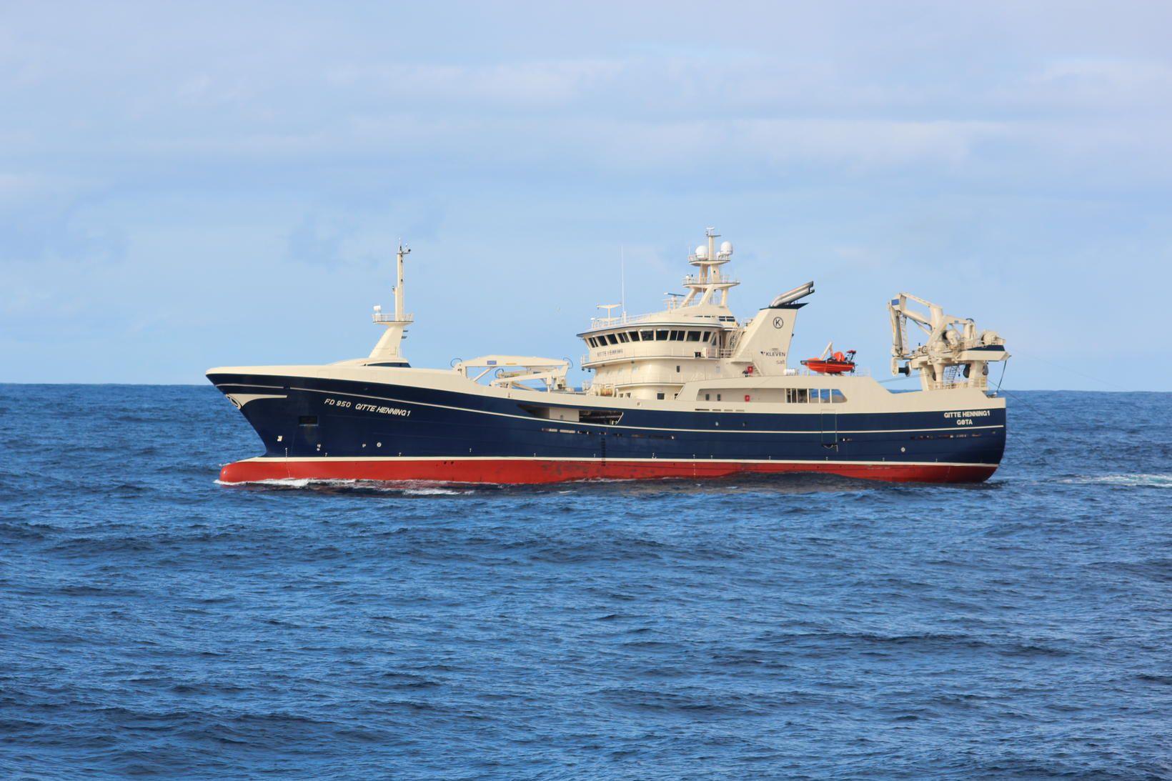 Færeyska skipið Gitte Henning er gert út frá Götu.