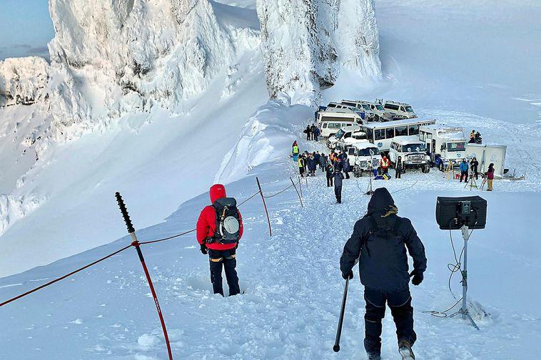 From Vatnajökull glacier, when True North was filming The Tomorrow War.