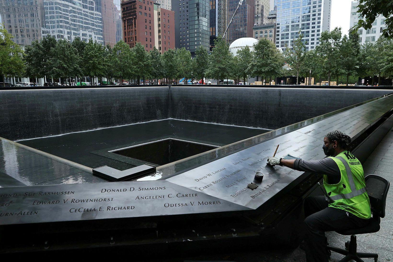 Minningu þeirra sem létust í árásunum 11. september árið 2001 …