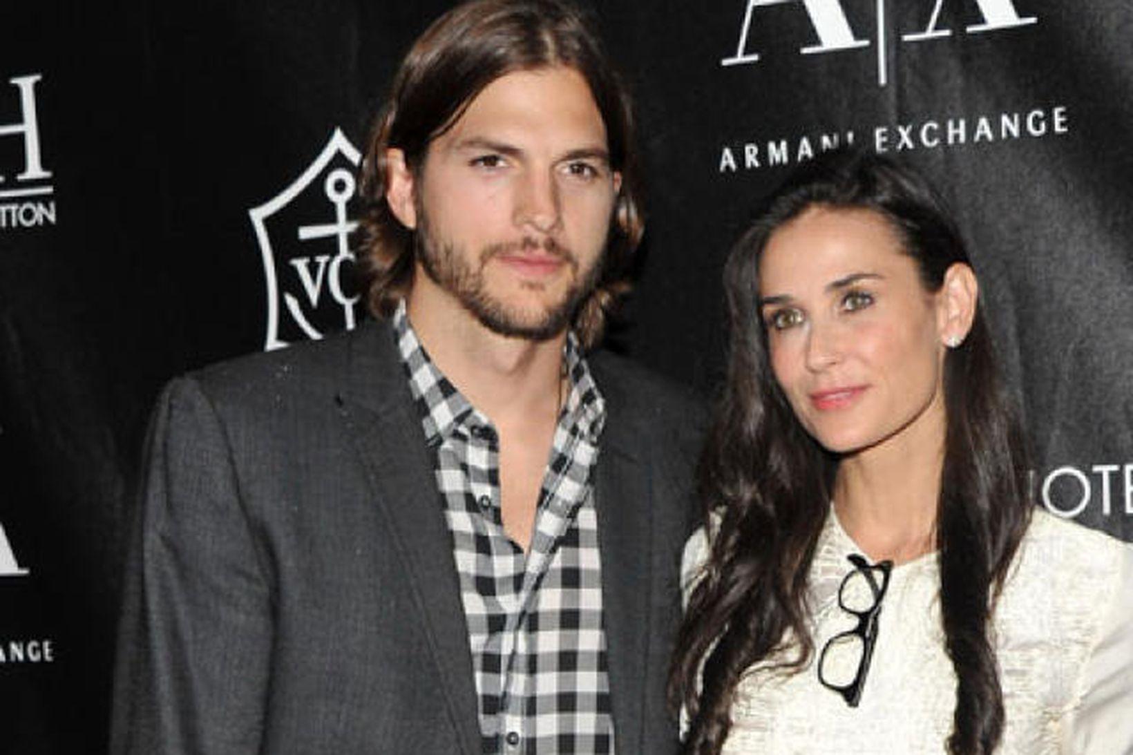 Ashton Kutcher og Demi Moore.