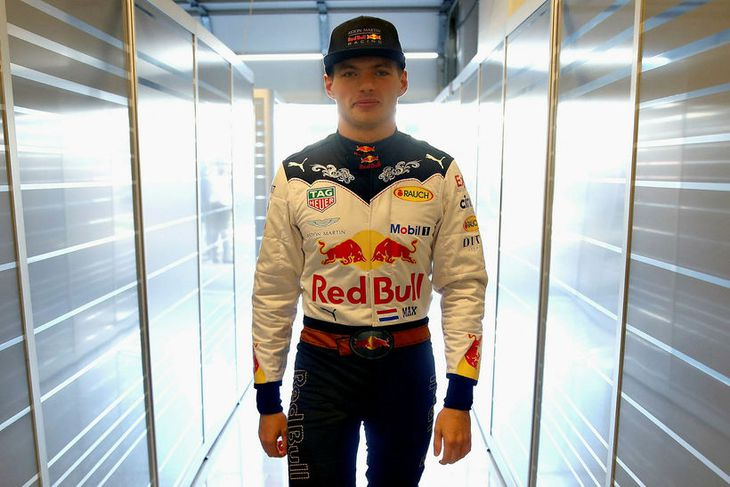 Max Verstappen í Austin í dag.