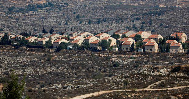 Hér má sjá uppbyggingu Ísraela í Ofra í austurhluta Ramallah, borgar á yfirráðasvæði Palestínu.